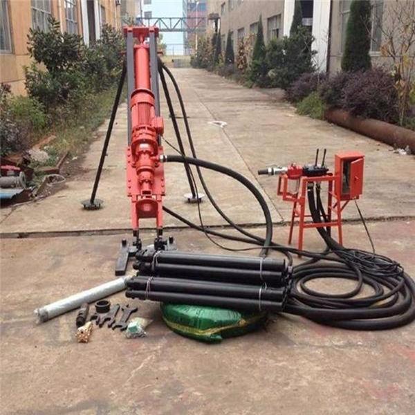 哈尔滨市气电联动锚杆潜孔钻机 冲击器打土层潜孔钻机