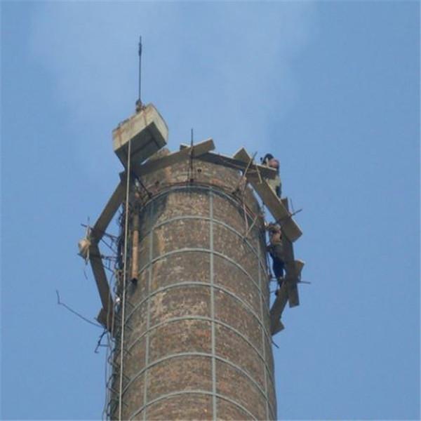 新乡砖烟囱人工拆除公司-本地烟囱拆除公司