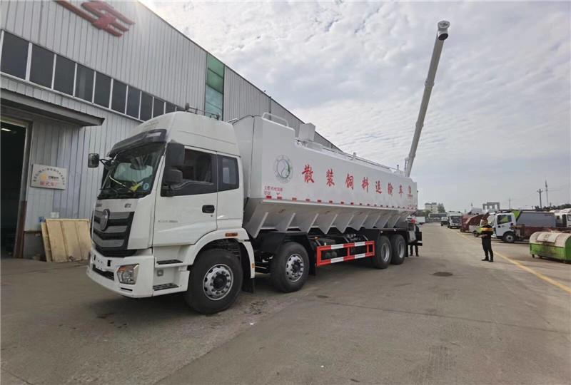 牡丹江6.8米散装饲料罐车