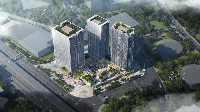 宝安地铁口物业湖景公寓多少钱一方宝安福永桥头地铁口