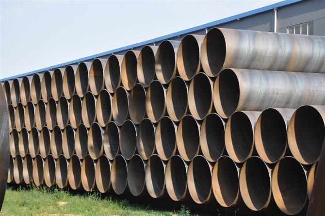 法兰连接大口径排水埋弧焊螺旋钢管厚度多少