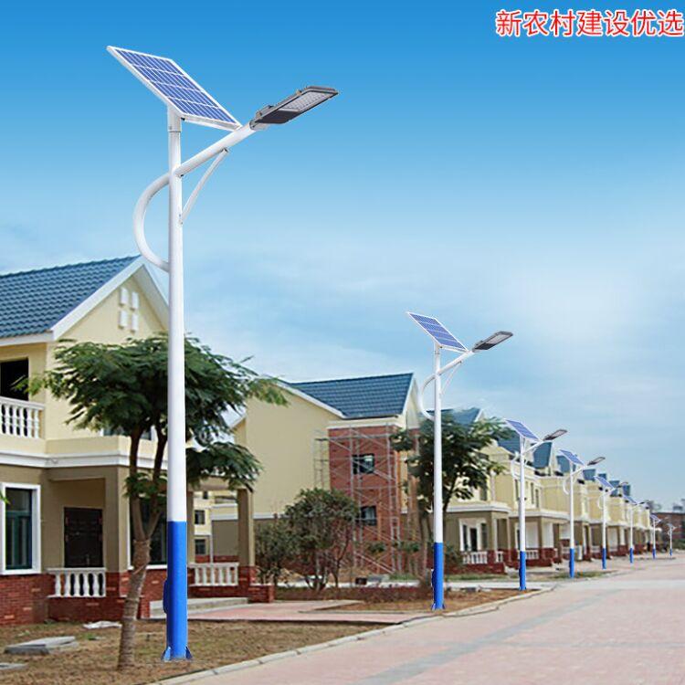双桥区农村太阳能路灯5米6米杆现货现发