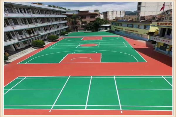 克孜勒苏承接篮球场塑胶面层专业施工厂家