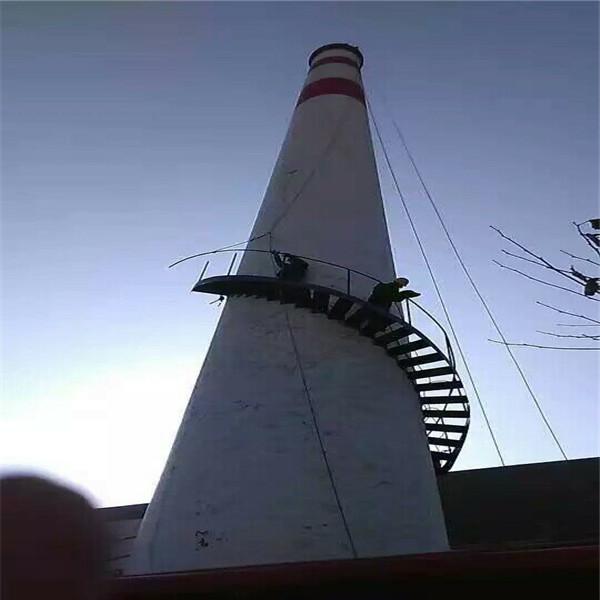 海城玻璃钢烟囱安装公司-本地爬梯安装精英团队