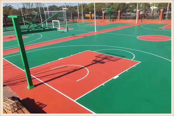 沧州青县专业篮球场塑胶地坪施工_厂家提供