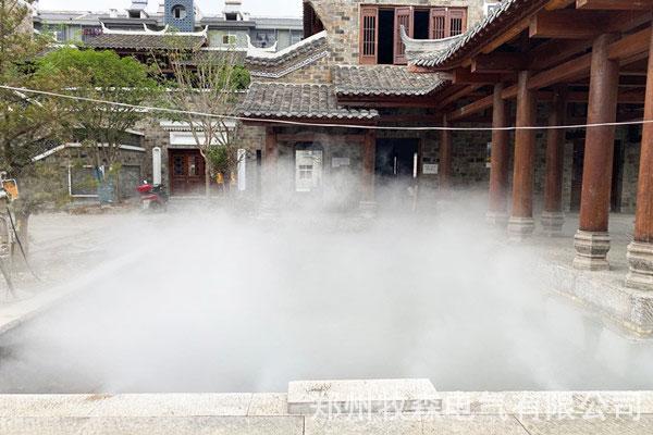 景观造雾:泉州小区人工造雾系统{工作原理}