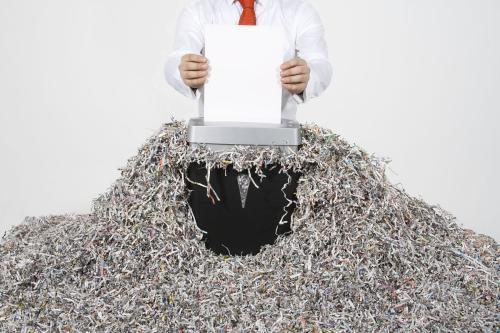 广州番禺文件报纸机械粉碎处理站点