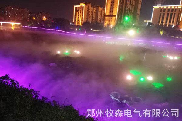 人造雾系统:兰州公园景观造雾设备{牧森电气}