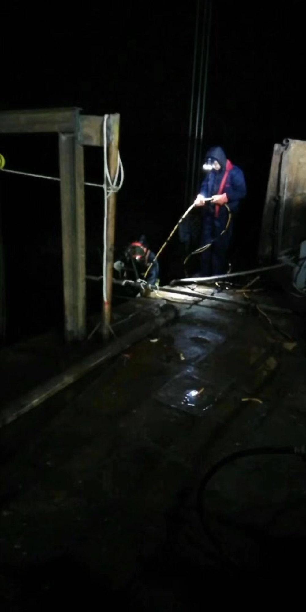 抚顺市蛙人专业服务公司□□地下管道内部水下修复→→直达作业现场