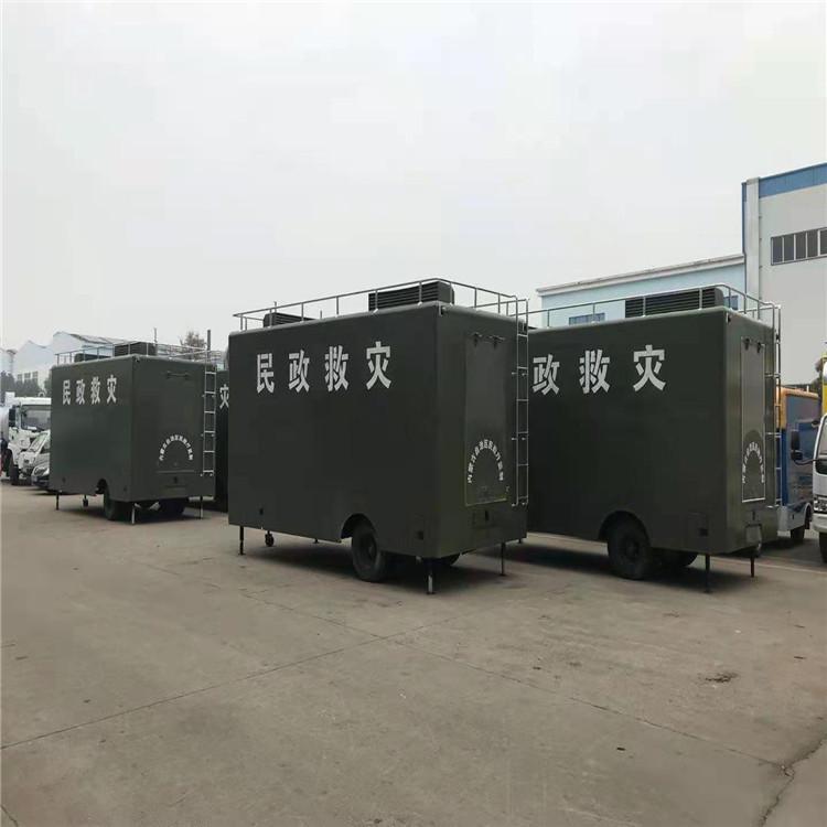 东风六驱12人野外淋浴车多功能应急净水车