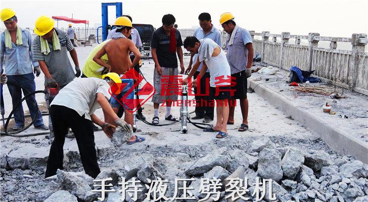 兰西石灰石开采机器液压劈石机江西源头厂家
