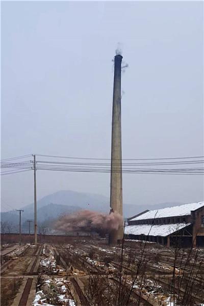 丹东市烟囱放倒公司&电话查询