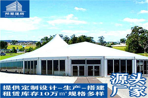 上海宝山区日产户外展厅篷房出租,可为您定制喷绘画面