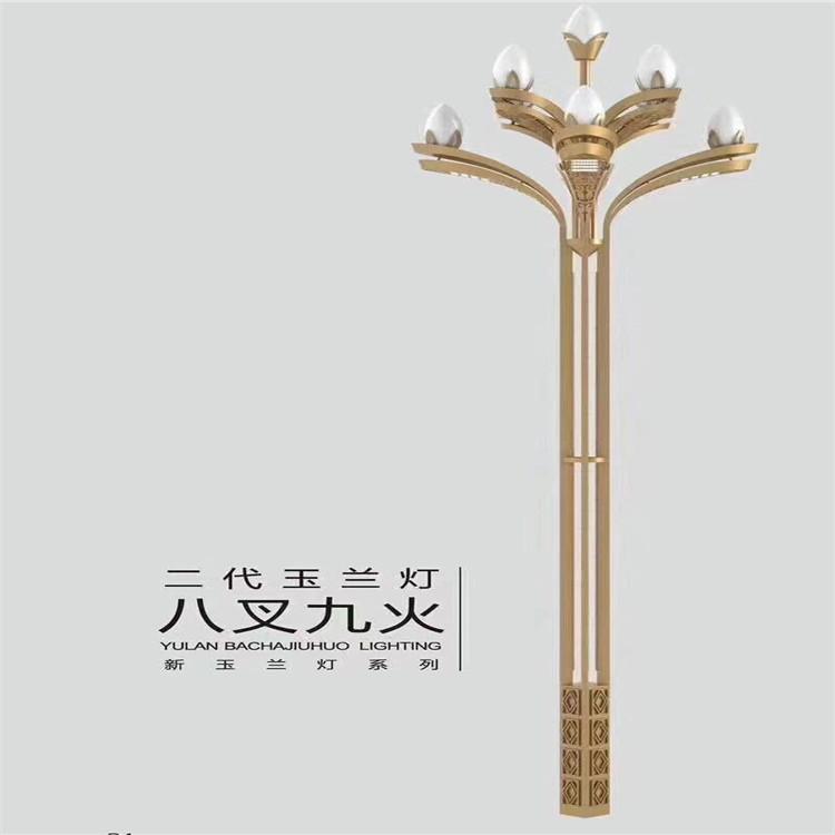 盘龙单柱式标志杆   25米高杆灯_火吗?