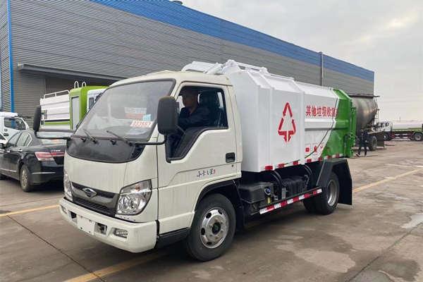 国六江铃3方自装卸挂桶环卫垃圾车厂家