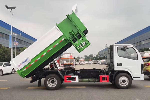 国六长安小型自装卸挂桶垃圾转运车价格
