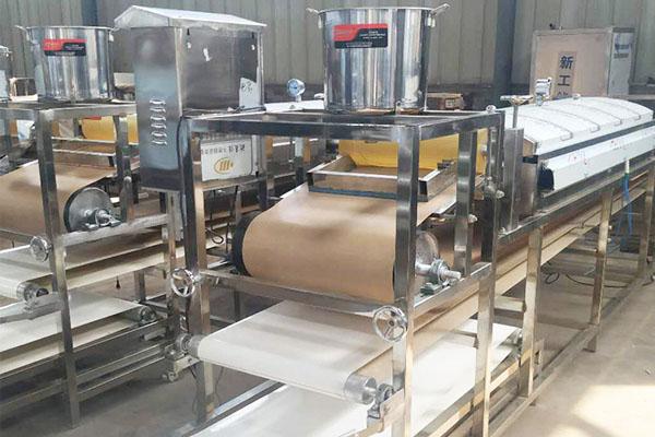 株洲全自动果蔬凉皮机拉条机做法视频 凉自动化粉皮机 手工大型凉皮蒸箱