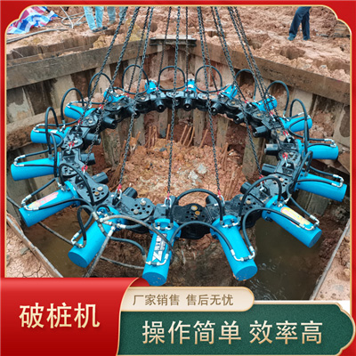 吕梁临县液压全自动破桩机破桩工作实拍