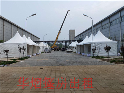 淮北市40米大跨度篷房租赁铁马护栏 / 防爆墙专业
