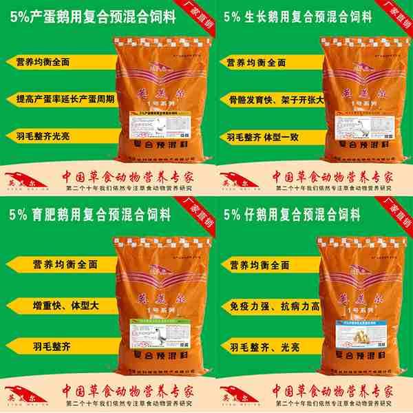 紫金-大白鹅预混饲料供应商市场上的黑马