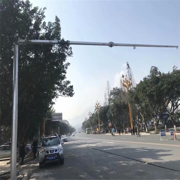 甘孜藏族自治州色达县室外治安监控立杆质量的厂是哪家天网杆体及机箱6.5米*1