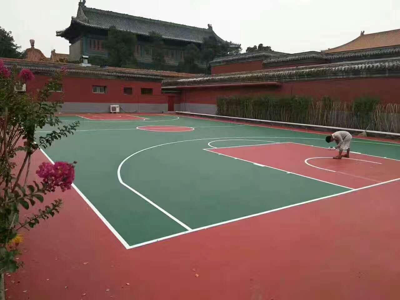 长治学校塑胶篮球场铺设厂家