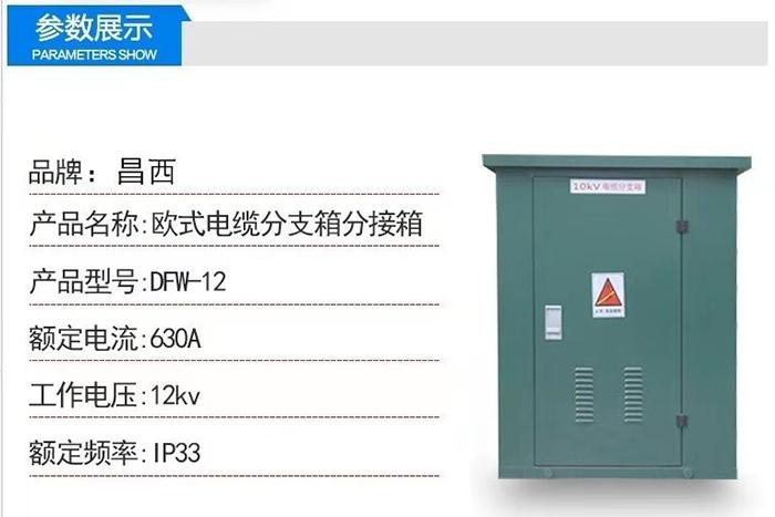 西宁市风电10KV高压电缆分支箱商场用报价dfw-10