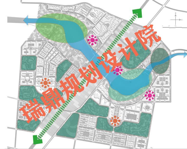 莆田平面图效果图(产业园区规划)