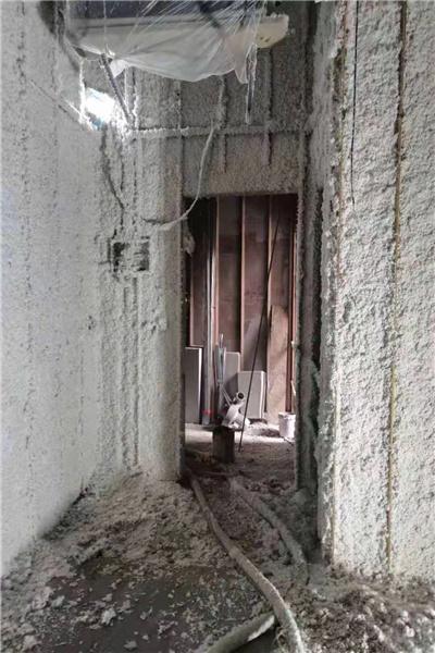 地下车库无机纤维喷涂施工流程湖南省湘潭市