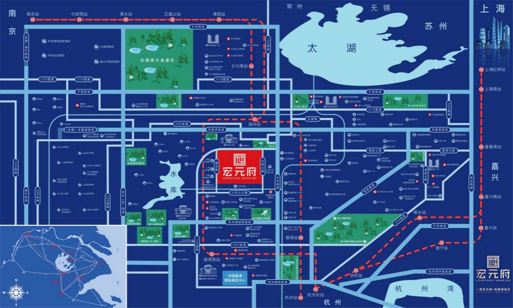 【重磅】:湖州吴兴区宏元府—详细地址在哪里?开车怎么过去?