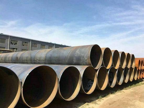 酒泉市农田灌溉引水用螺旋钢管一米多重