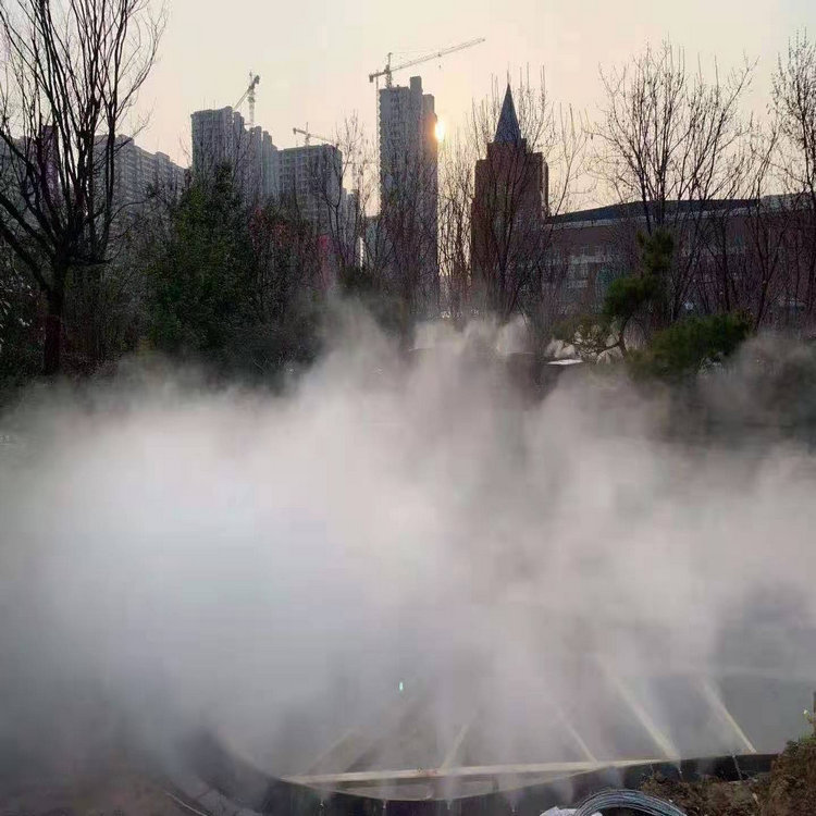 宜昌高压喷雾景观设备| 人工造雾设备施工