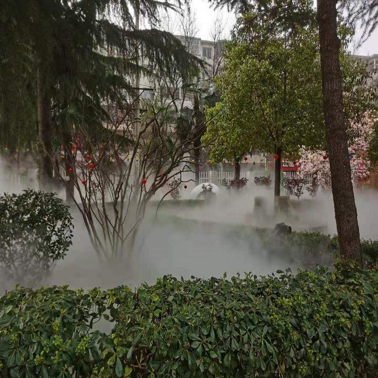 周口公园造雾设备  园林景观人造雾设备全国送货