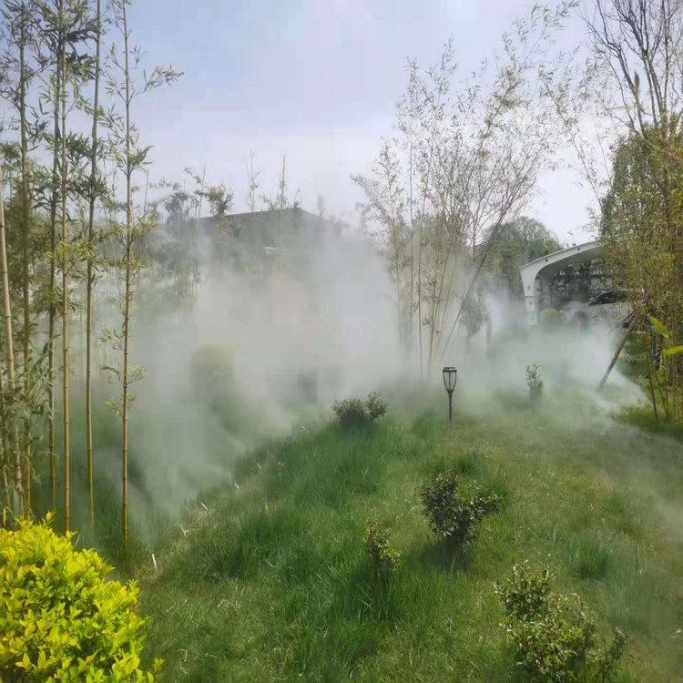 斜阳游乐场喷雾景观|假山雾森系统施工