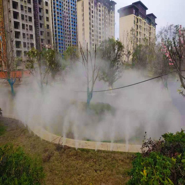 河南省人造雾喷雾造景设计
