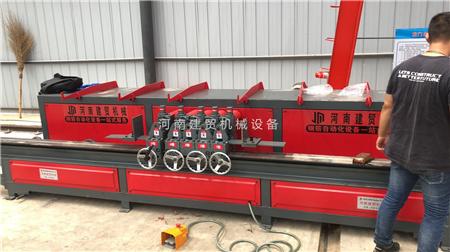 黑龙江全自动钢筋五机头弯箍机操作过程教学