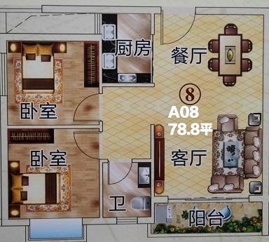 横沥统建楼【松湖-时代花园】看房必看使用面积多少?