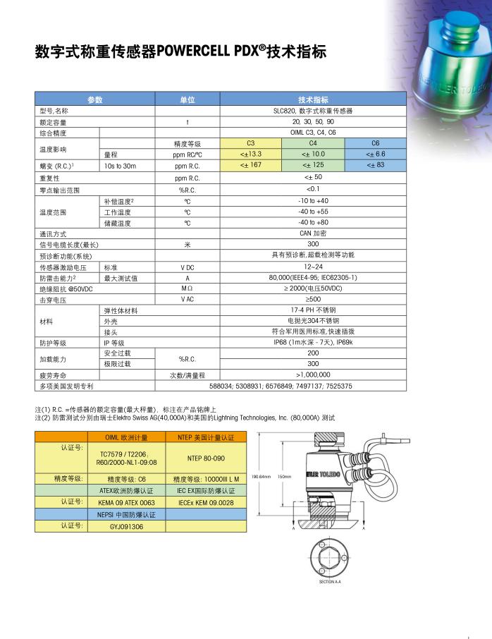 无锡梅特勒托利多GDD称重传感器多少钱