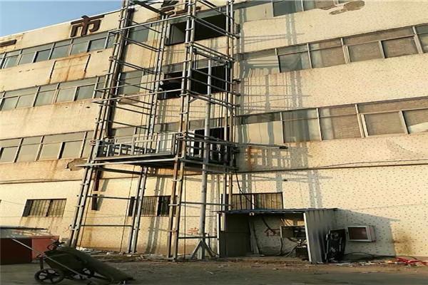 高阳县厂房升降货梯导轨链条式液压升降台