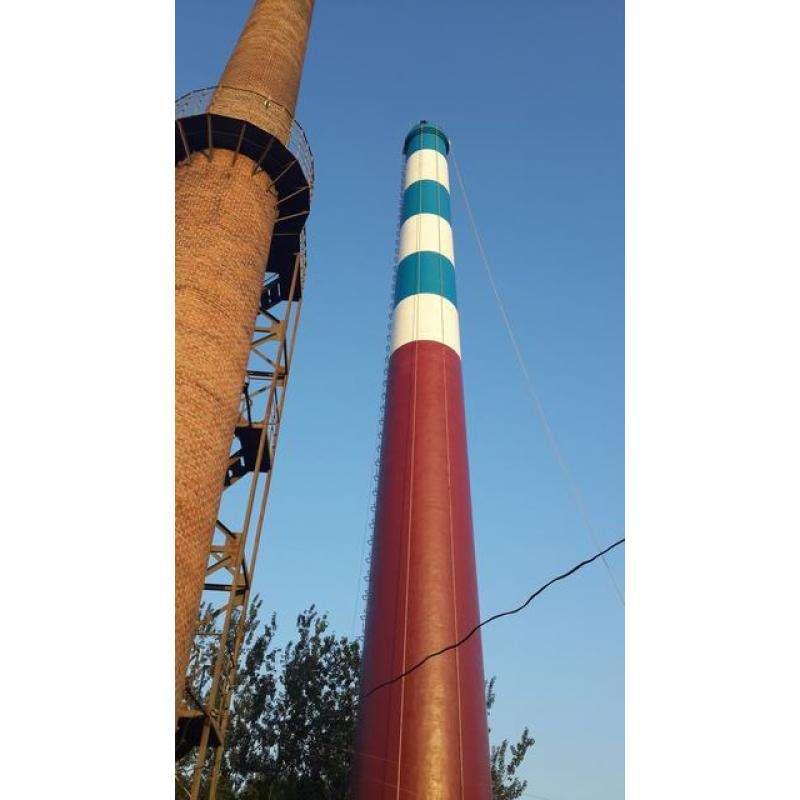 吉安市青原区砖烟囱新建,砼烟囱防腐