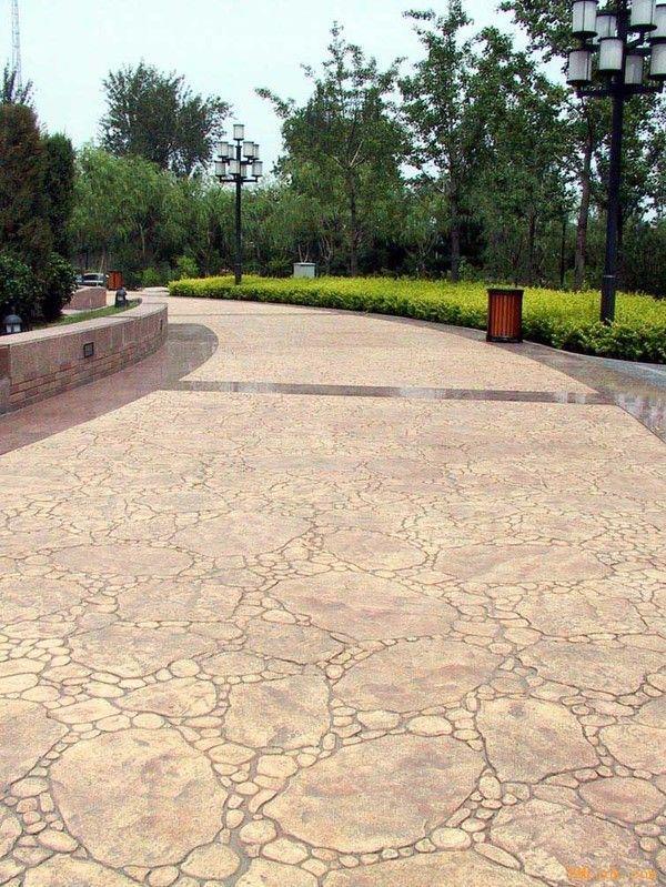 广州增城压花地坪材料厂家、公园推荐