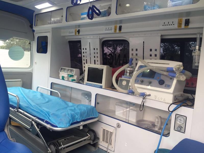贵阳长途120救护车出租,跨省转院出院护送