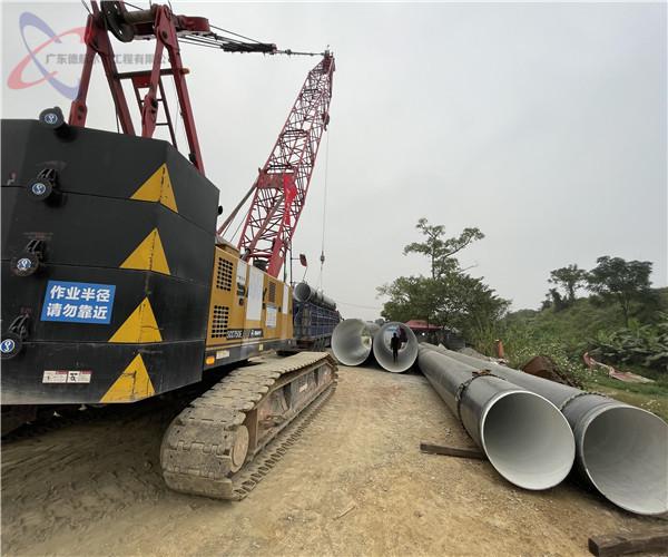 2021年合作:潜江管道水下施工——锐意改革