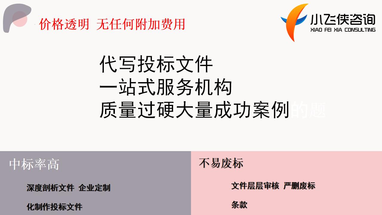 东至2021代写标书-本地公司-保密机制小飞侠咨询公司