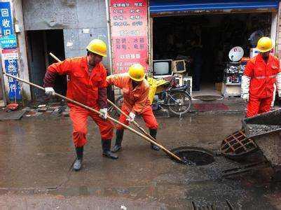 镇江大市口街道油污下水道油脂清洗作业流程
