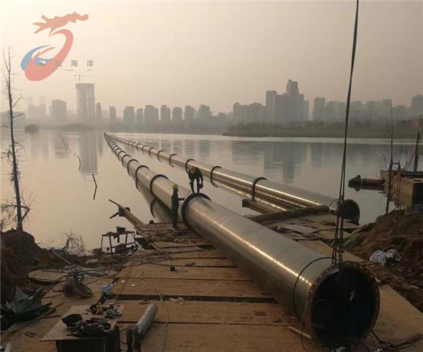 长沙市过海管道穿越---沉潜水作业公司