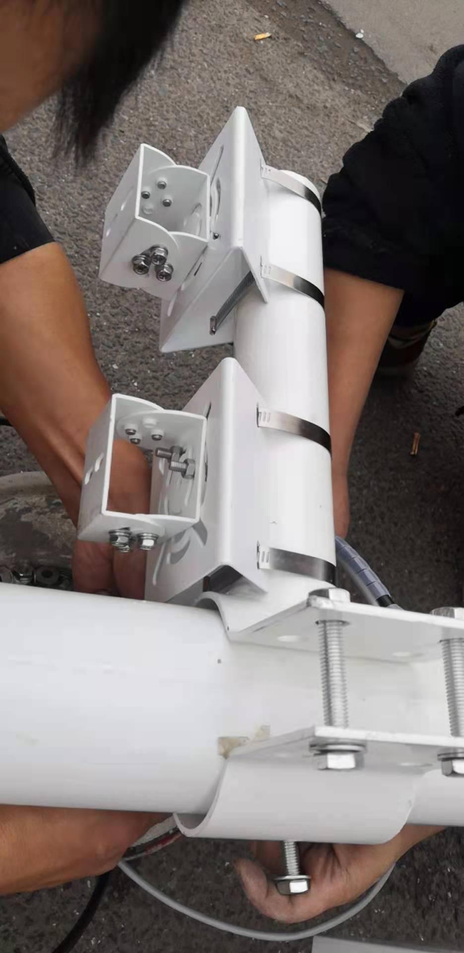 雅安名山天网工程监控箱5*1米交通监控杆双联动液压折弯机制作