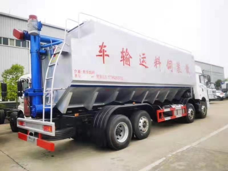 唐山市开区散装饲料运输车鸿升散装饲料车