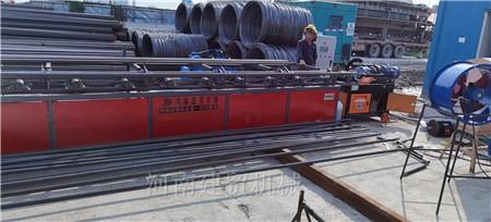 湖北随州钢筋锯切套丝打磨生产线结构原理