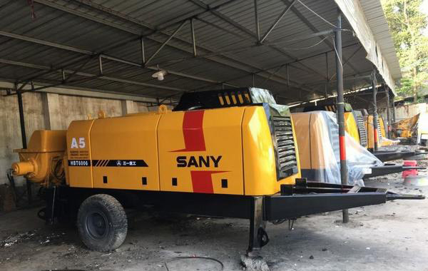 90三一重工混凝土拖泵性能稳定